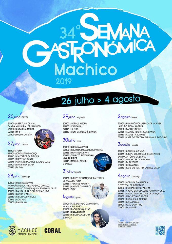 Semana Gastronómica de Machico 2019: o programa