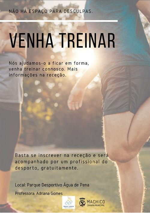 Venha Treinar: Parque Desportivo Água de Pena