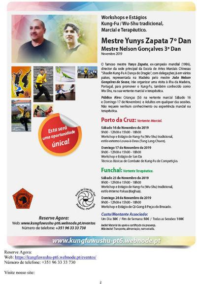 Workshop e Estágios | Kung-Fu/Wu-Shu tradicional, Marcial e Terapêutico