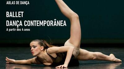 Aulas de ballet e dança contemporânea